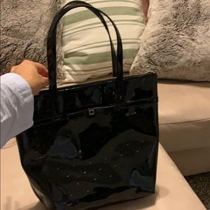 Kate spade purse black polka dot